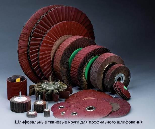 Шлифовальные тканевые круги для профильного шлифования