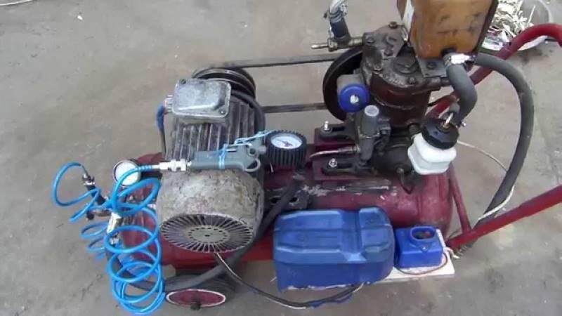 Самодельный поршневой компрессор на колесах