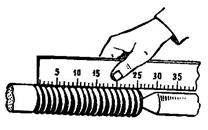 Измерение шага резьбы