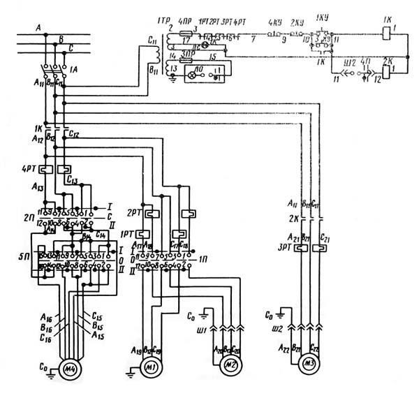 Электрическая схема станка 2В642