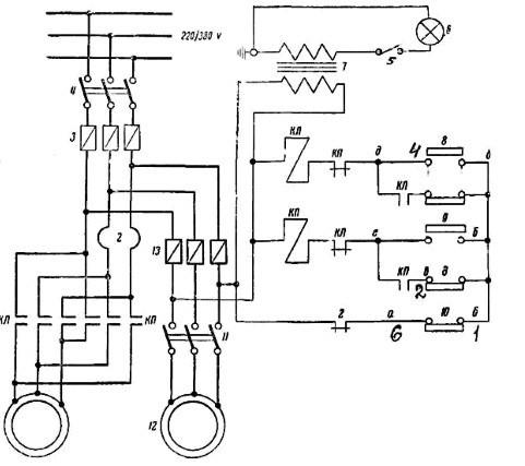Электрическая схема вертикально-сверлильного станка 2А135