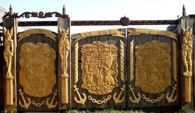 Кованые ворота (50 фото) распашные и откатные