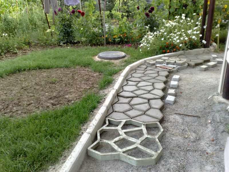 Ландшафтный дизайн с применением бетона