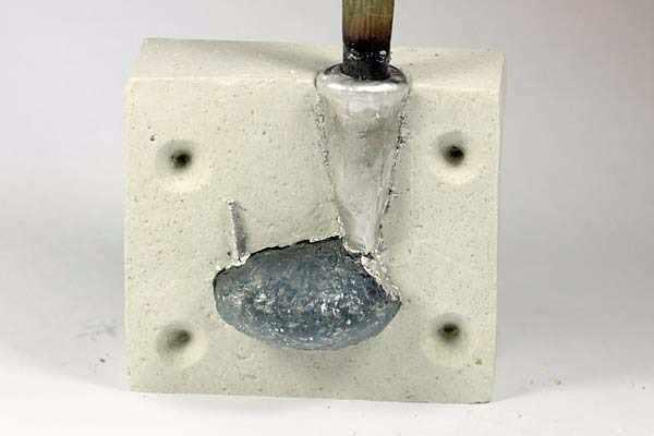 Удаление излишек олова (облой)