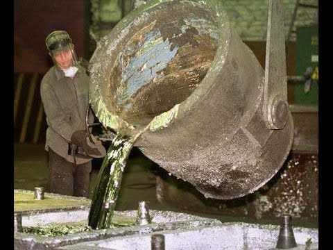 Процесс литья свинца