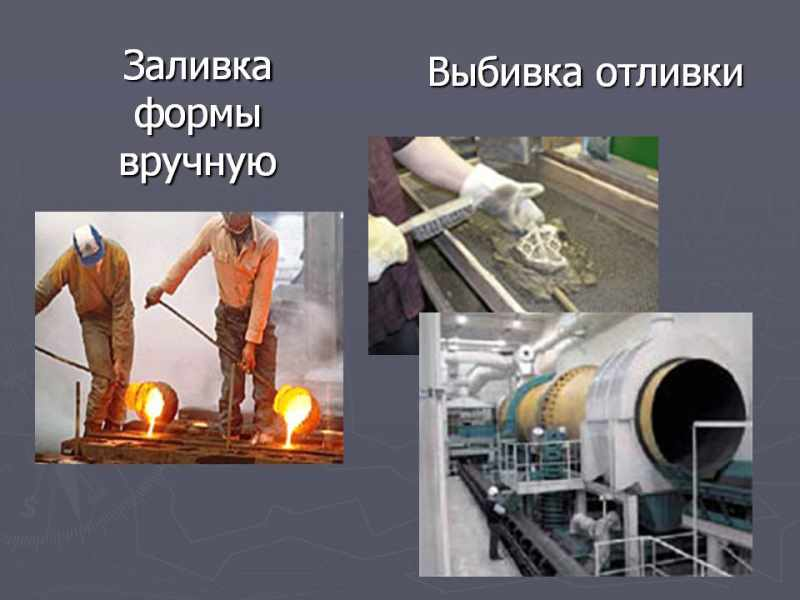 Процесс литья в формы