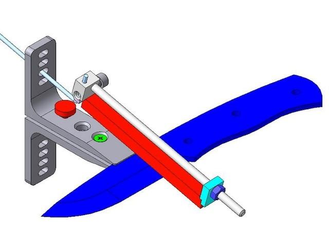 Схема самодельной точилки из монтажных уголков