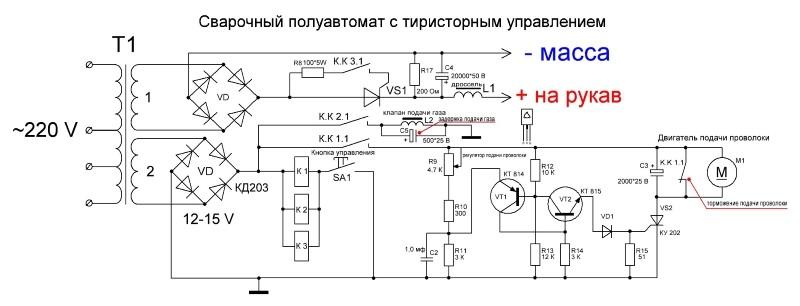 Схема регулятора подачи проволоки для сварочного полуавтомата