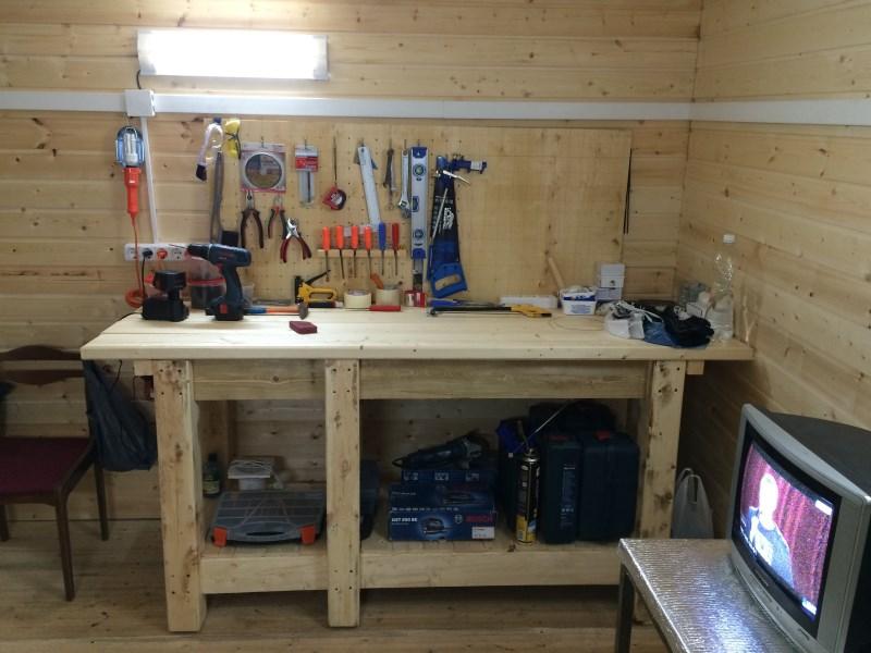 Самодельный верстак для мастерской