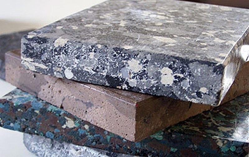 Мрамор с бетонным наполнителем