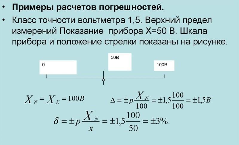 Чем определяется класс точности