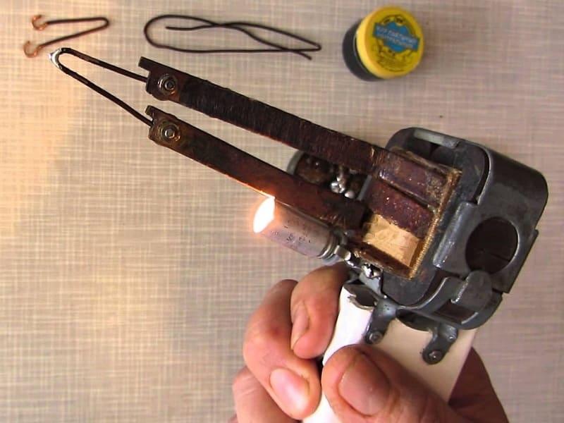 Импульсный паяльник из понижающего трансформатора