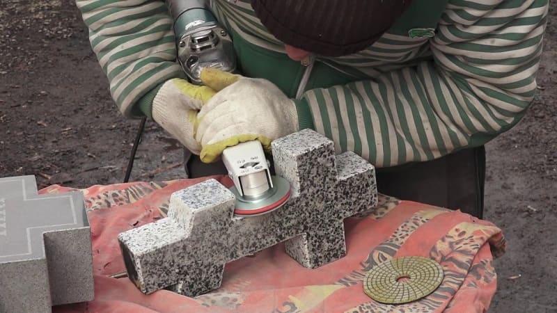 Полировка мрамора болгаркой