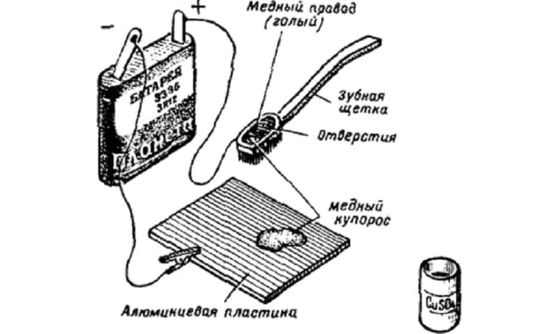 Схема пайки алюминия