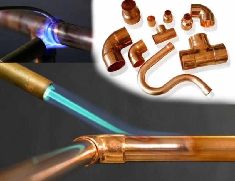 Высокотемпературное соединение медных труб