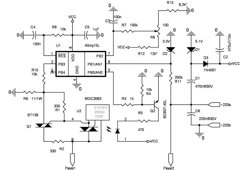 Схема паяльника с терморегулятором
