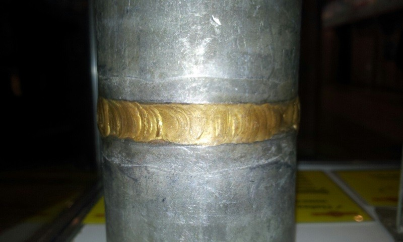 Пример пайки припоем серебро 1%