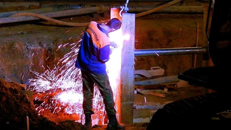 Резка металла газовым резаком
