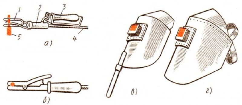 Электрододержатели и защитные приспособления