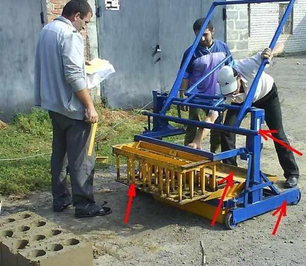 Сложная конструкция шлакоблочного станка