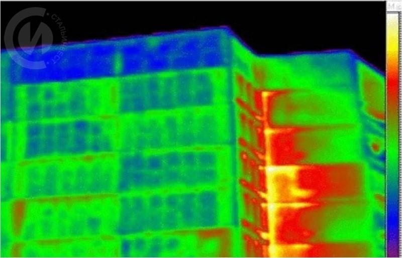Тепловые потери по швам панельного дома