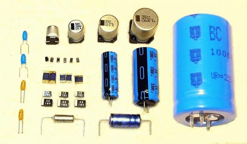 Различные виды конденсаторов