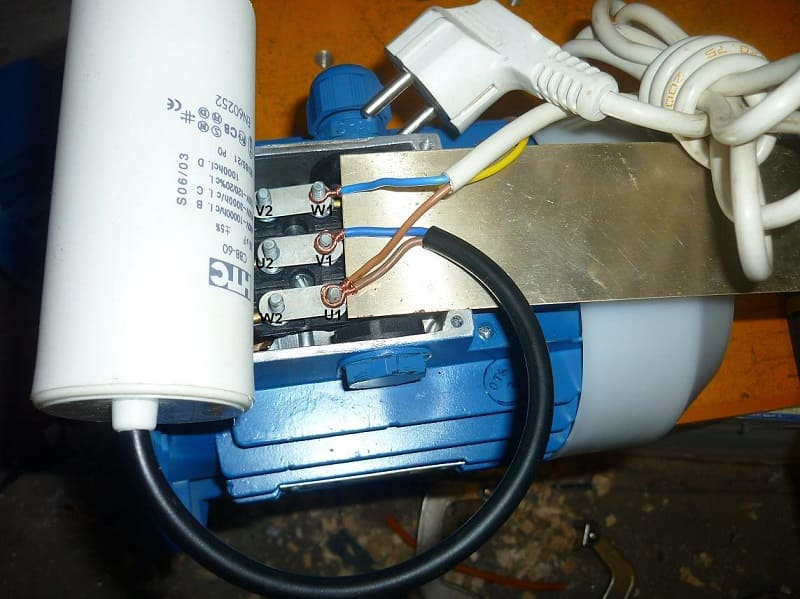 Подключение трехфазного электродвигателя к сети