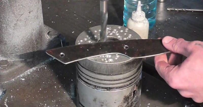 Обработка заготовки ножа