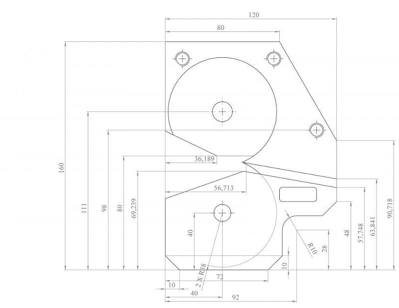 Схема для сборки роликового ножа