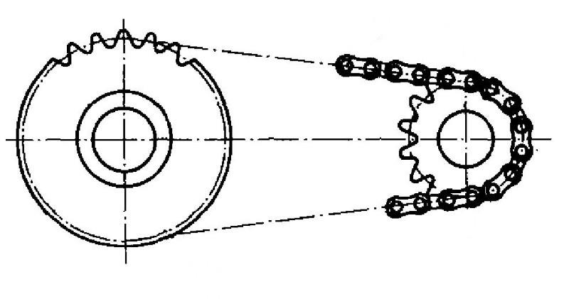 Схема цепной передачи