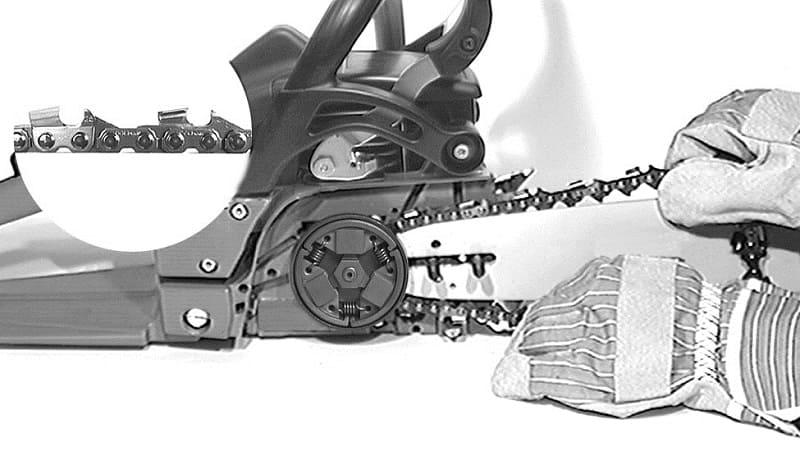 Как правильно поставить цепь на бензопилу правила, основные трудности
