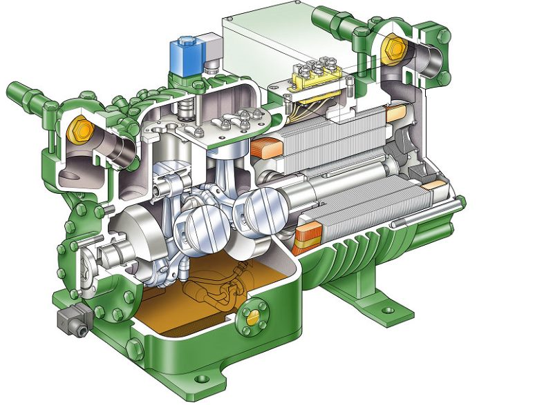 Схема масляного компрессора