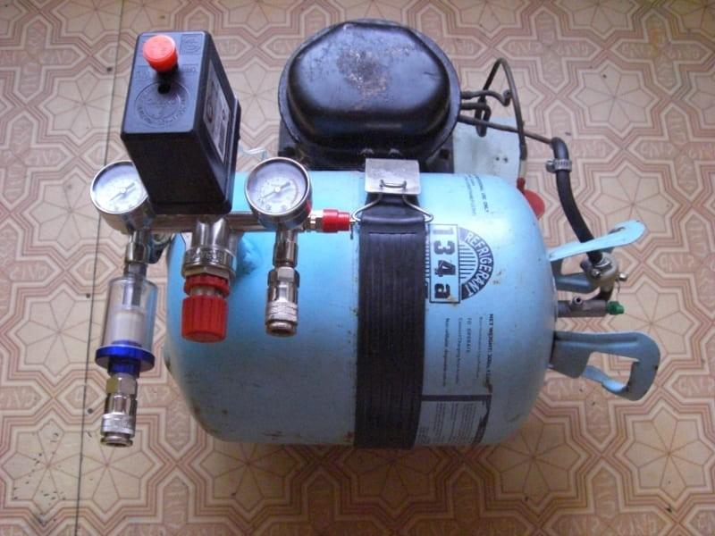 Компрессор для аэрографа из старого холодильника
