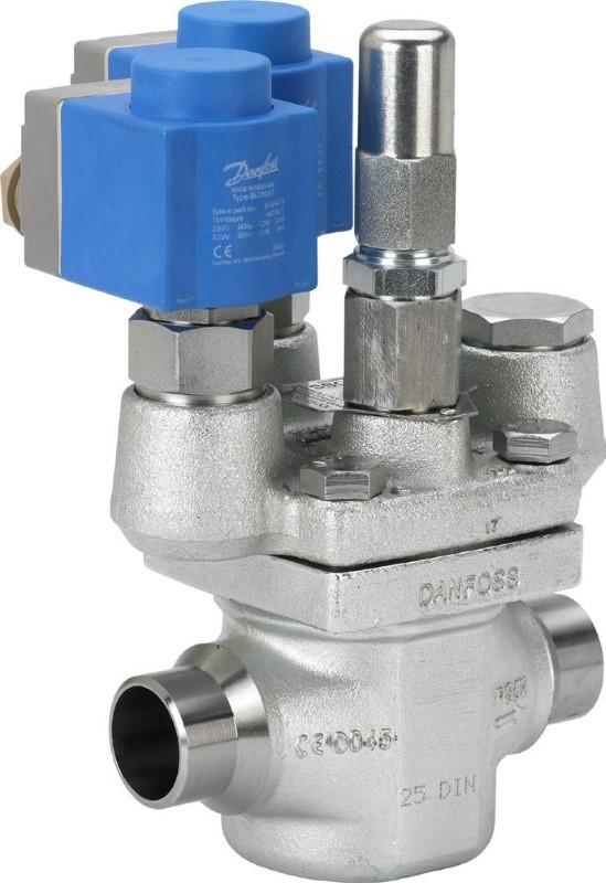 Двухступенчатый электромагнитный клапан