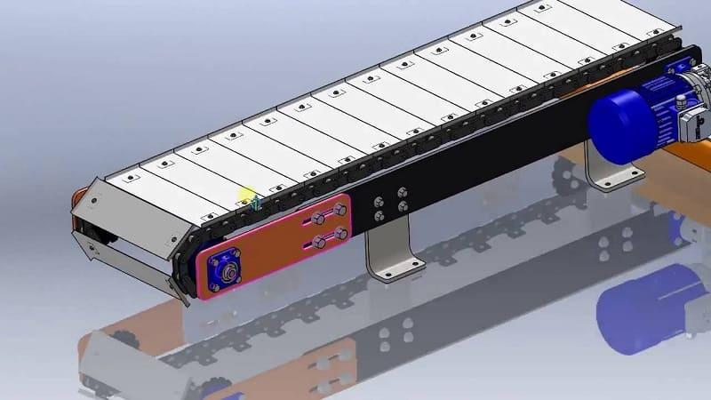 Конвейер с цепью коробка транспортер