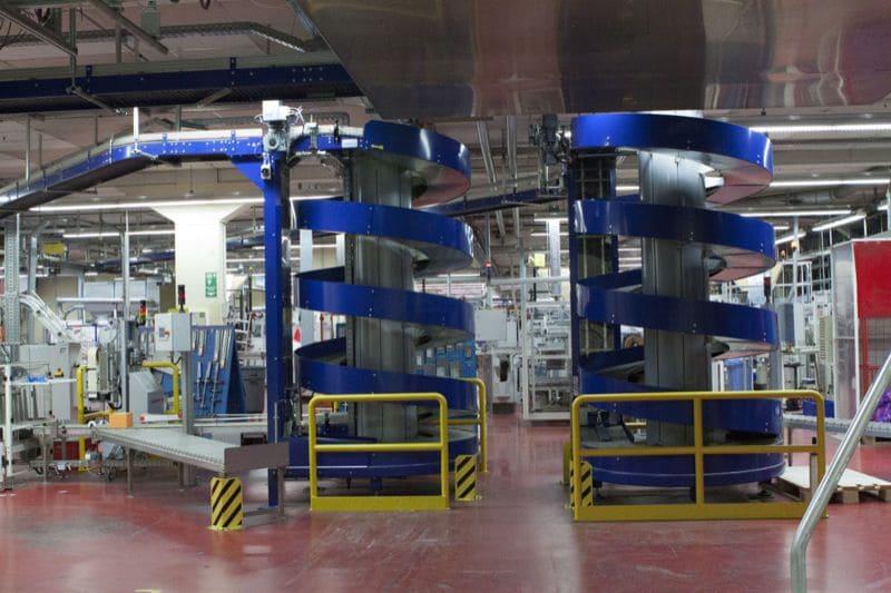 Вертикальный спиральный цепной конвейер