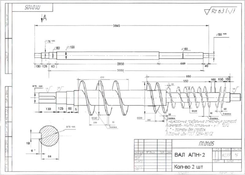 Изготовление шнеков технология и оборудование процесс, подготовка, способы