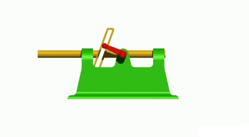 Трёхзвенный кулисный механизм с поступательно движущейся кулисой