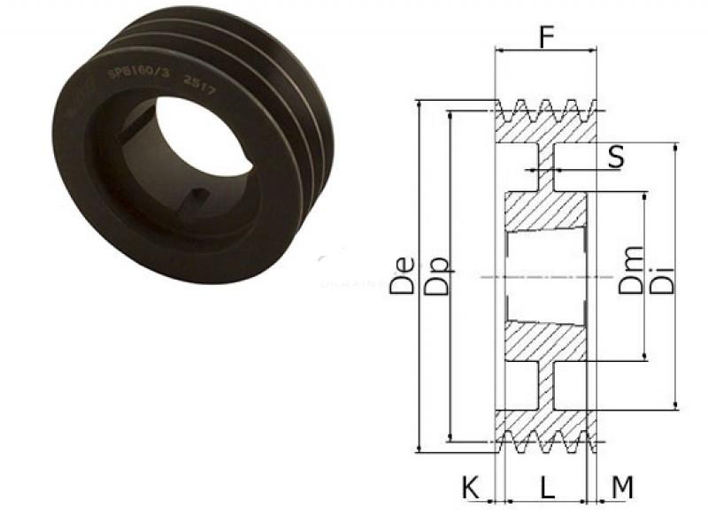 Шкив клиновой SPC 500/8 TB 5050
