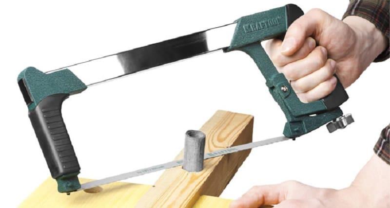 Как вставить полотно в ножовку по металлу