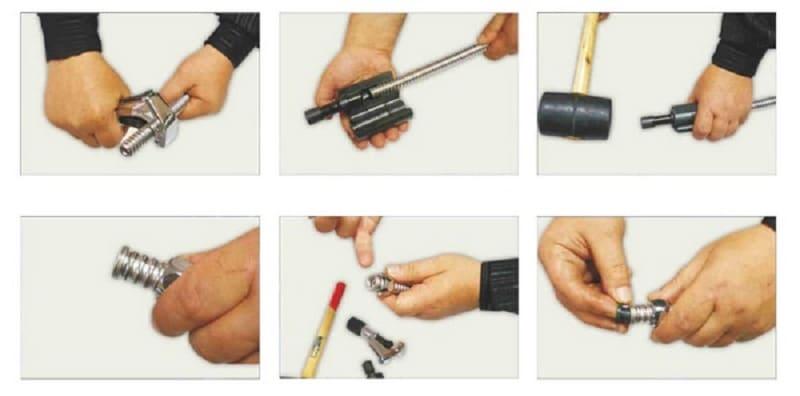 Правила монтажа гофры при помощи инструмента