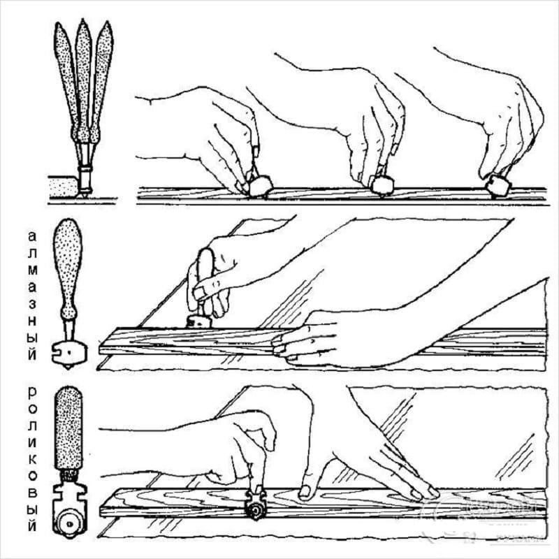 Как отрезать зеркало в домашних условиях
