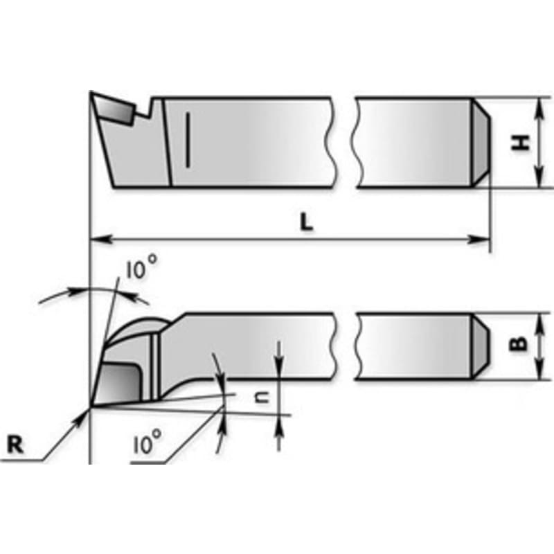 Схема подрезного резца