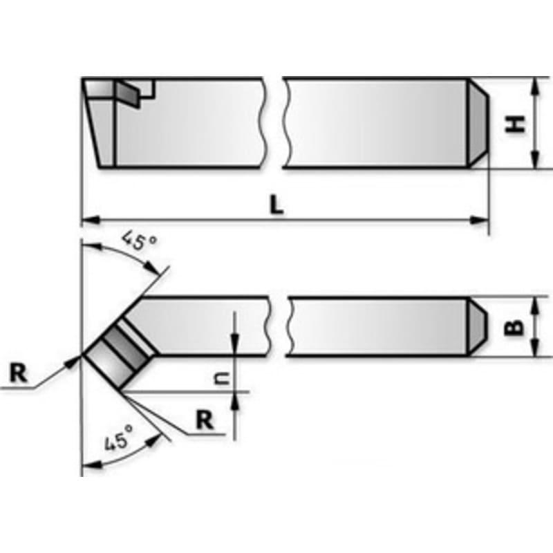 Геометрия проходного отогнутого резца