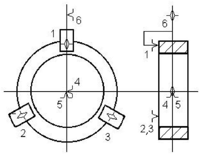 Базирование диска в трехкулачковом патроне
