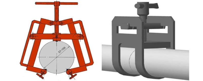 Струбцинный центратор для труб