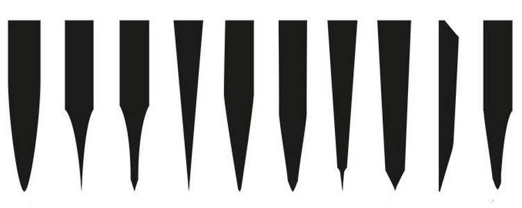 Виды заточки ножей