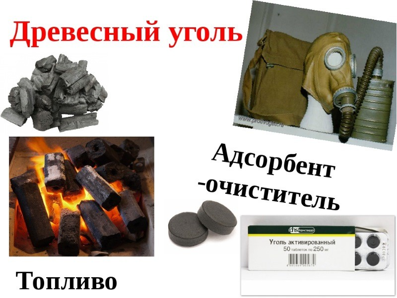 Применение древесного угля